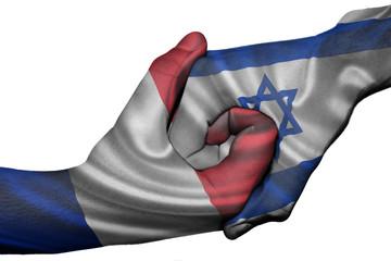 Handshake between France and Israel