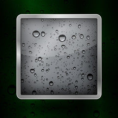 Vector icon water in an aluminum frame