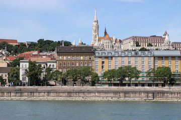 Budapest Danube riverside with Fisherman bastion