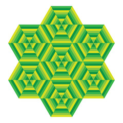Mosaic of different colors, geometric shapes hexagons