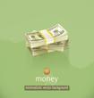 Money, minimalistic vector background