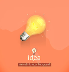 Idea, minimalistic vector background