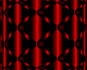 Red Background Black pattern wave Design