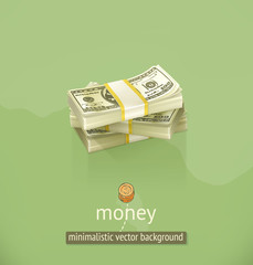 Money, minimalistic vector background