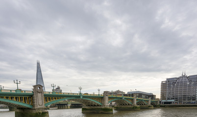 Panorama of Southwark Bridge