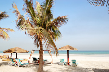 Beach of the luxury hotel, Ajman, UAE