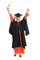 Full length Muslim university student
