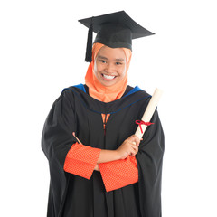 Muslim university student graduate