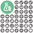Money icons set. Illustration eps10