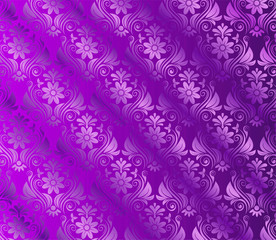 Silk Violet background With Floral