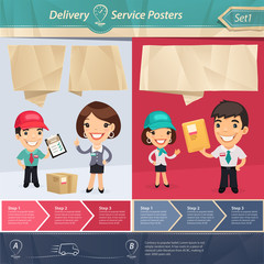 Delivery Service Posters
