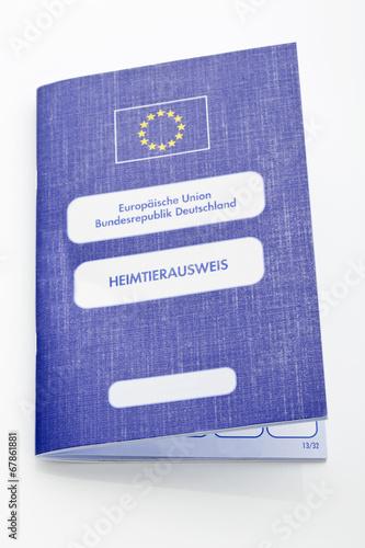 canvas print picture Heimtierausweis