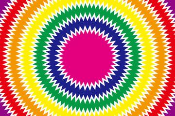 背景素材壁紙  (放射, 放射状, 虹, 虹色, レインボー, 七色, 円形の虹, 虹の輪, メダル, メダル状, メダル形,)