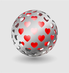 Silver ball elegant icon