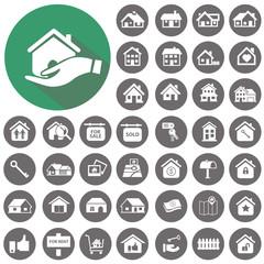Real estate icons set. Illustration eps10