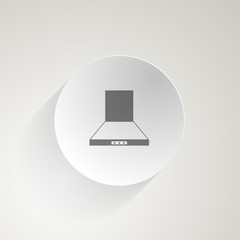 Flat vector icon for cooker hood