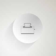 Flat vector icon for toaster