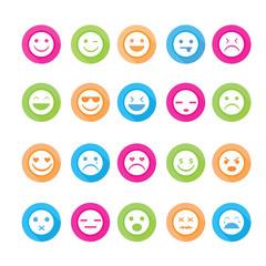 Smiley faces icon set. Illustration eps10