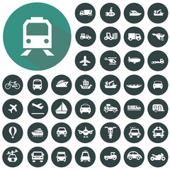 Transportation icons set, Illustration eps10