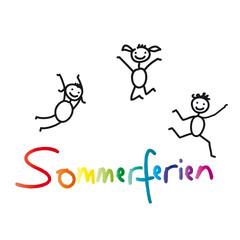 Sommerferien - fröhliche Kinder