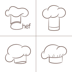 Set of chef's hats for your design