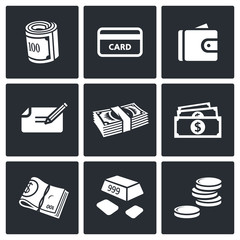 Money icon collection
