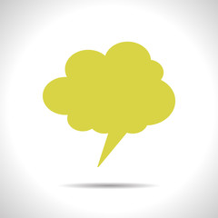 Vector callout cloud icon. Eps10