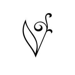 Sign the letter V