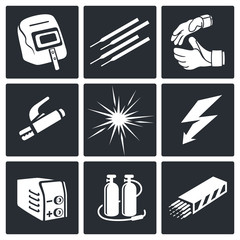 Welding icon set