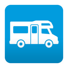 Etiqueta tipo app azul simbolo autocaravana