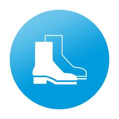 Etiqueta redonda calzado de seguridad