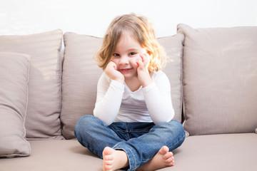 Kind entspannt