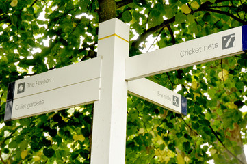 Sign Posts in Cricket Ground