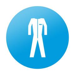 Etiqueta redonda ropa de trabajo