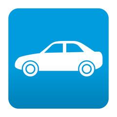 Etiqueta tipo app azul simbolo automovil