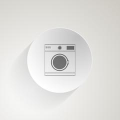 Flat icon for washing machine