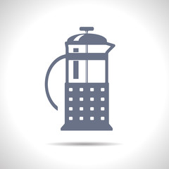 Vector teapot icon. Eps10