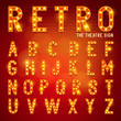 Retro Lightbulb Alphabet - 67866437