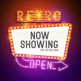 Retro Showtime Sign Vector