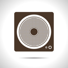 Vector speaker icon. Eps10