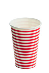 Striped paper cup