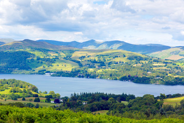 Windermere Lake District England uk sunny summer day