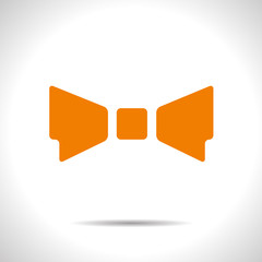 Vector bow-tie icon. Eps10
