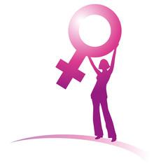 Frau mit Venussymbol