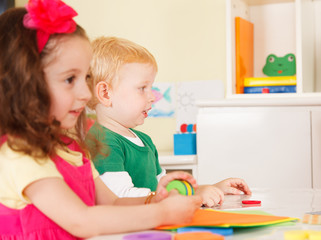 pre-school children in the classroom