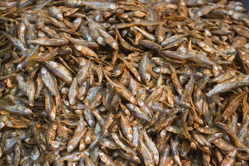 Dry fish in  nepali's market