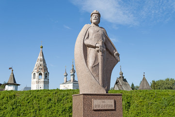 Monument to Yuri Dolgoruky, the founder of Yuriev-Polsky city
