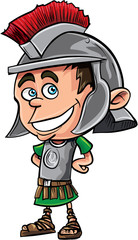 Cute cartoon Roman legionary