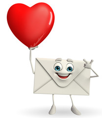 Mail Character with red heart