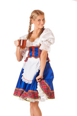 Young sexy Oktoberfest woman